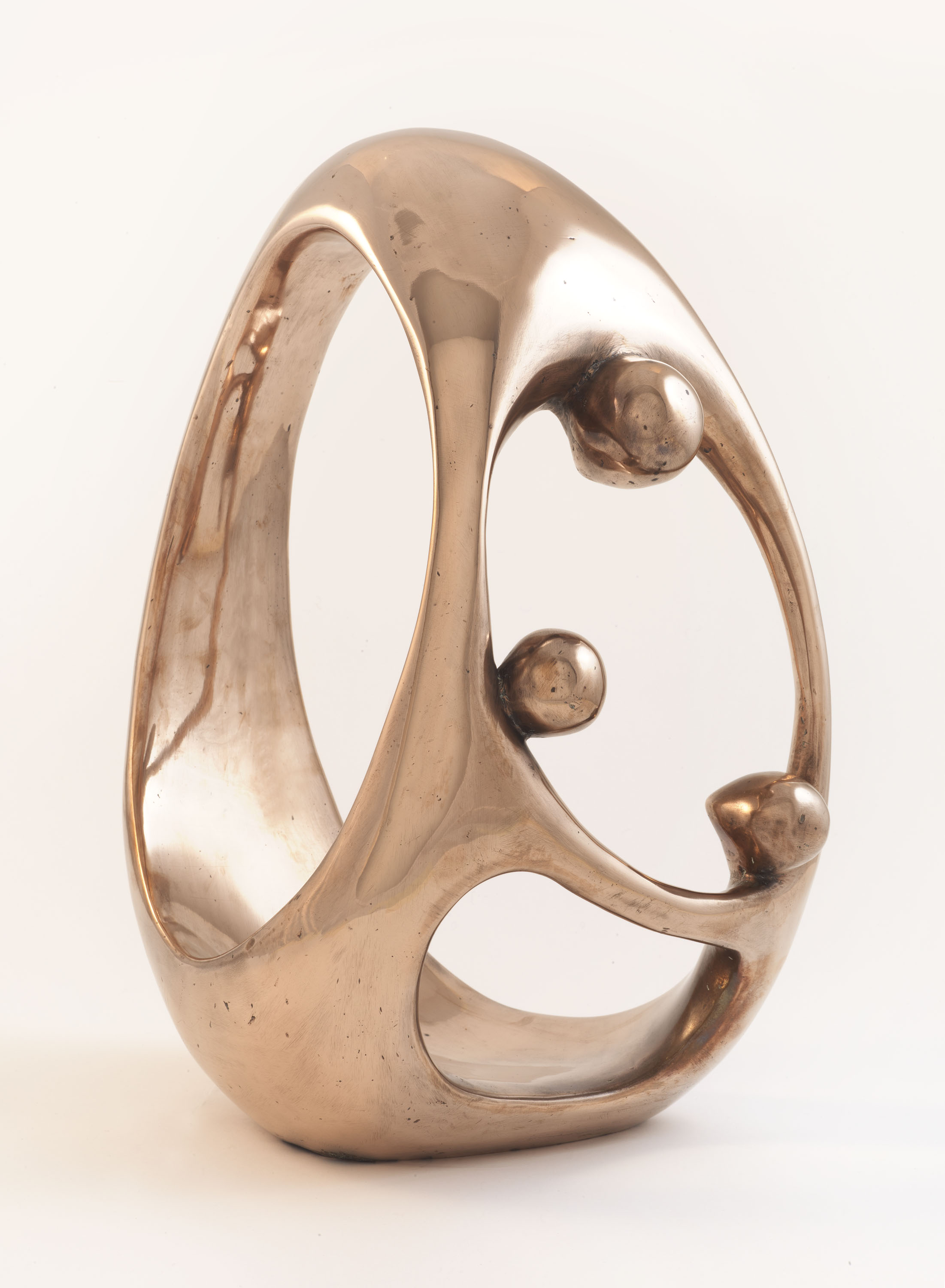 Mother and Two Children (Bronze) by Julia Godsiff
