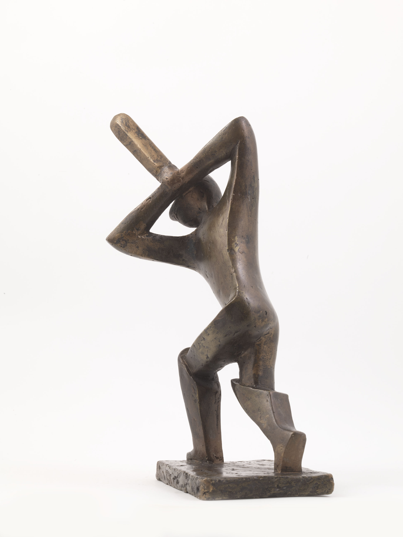 Cricket Player (Bronze) by Julia Godsiff