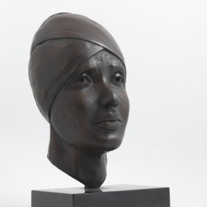 Winnie Mandela (Bronze) by Julia Godsiff