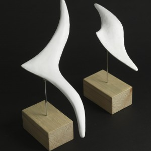 Flight (Plaster) by Julia Godsiff