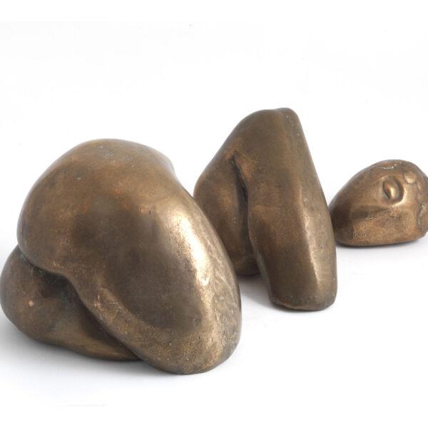 Sleeping Woman (Bronze) by Julia Godsiff