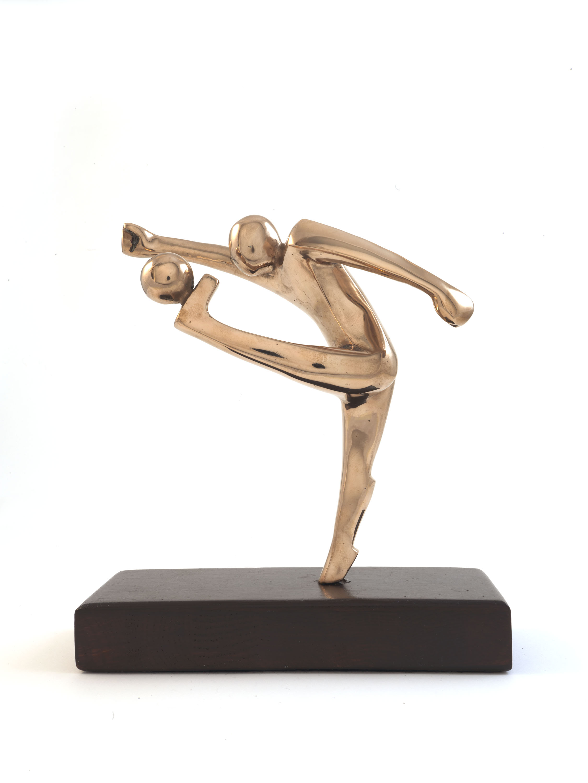 Football Player (Bronze) by Julia Godsiff