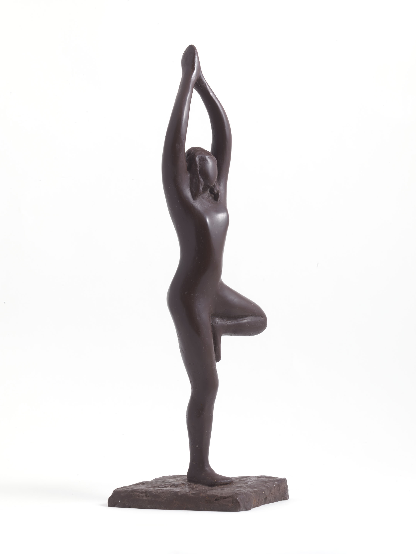 Yoga Tree Pose (Resin) by Julia Godsiff