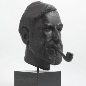 John Bramley Portrait (Bronze) by Julia Godsiff